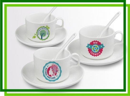 Кофейный набор (чашка, ложка, блюдце)