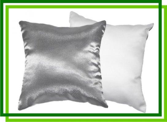 Подушка 40х40 см Белая и Серебро
