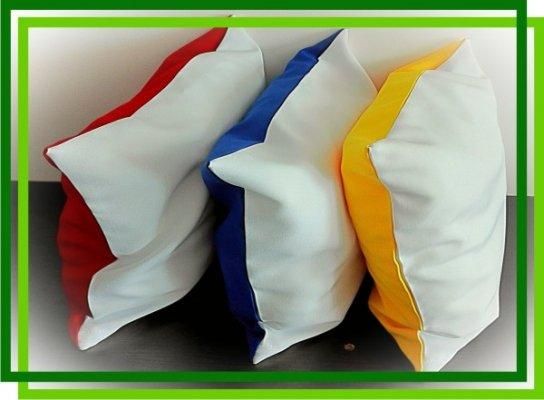 Подушка Атлас с цветной стороной